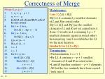 correctness of merge1