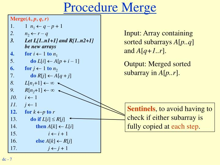 Procedure Merge