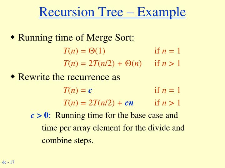 Recursion Tree – Example