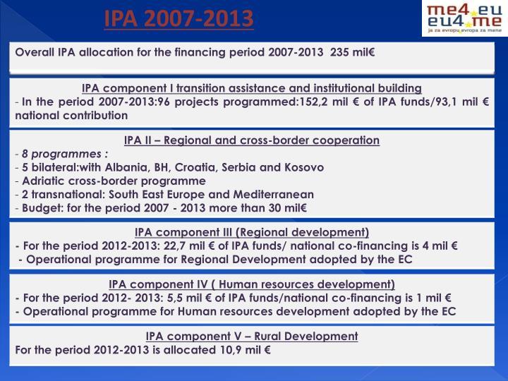 IPA 2007-2013