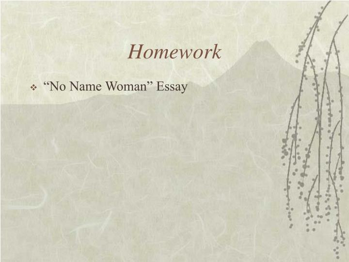 No name woman essay analysis
