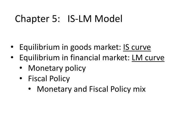Chapter 5 is lm model