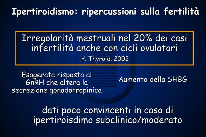 Ipertiroidismo: ripercussioni sulla fertilità