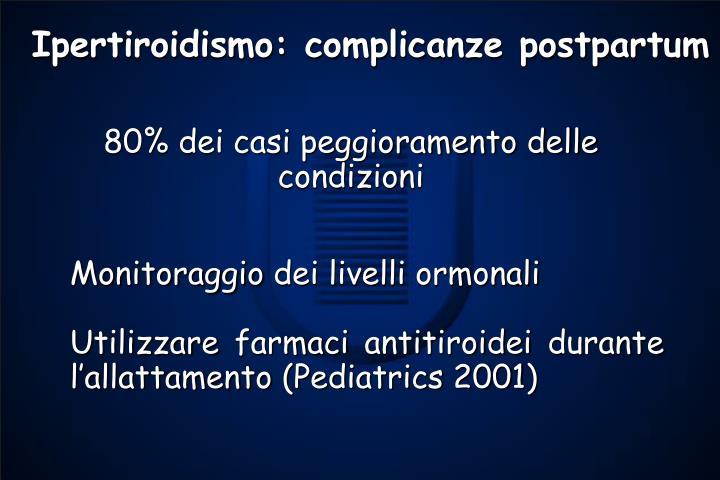 Ipertiroidismo: complicanze postpartum