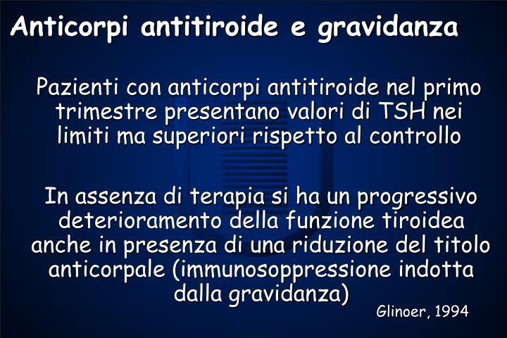 Anticorpi antitiroide e gravidanza