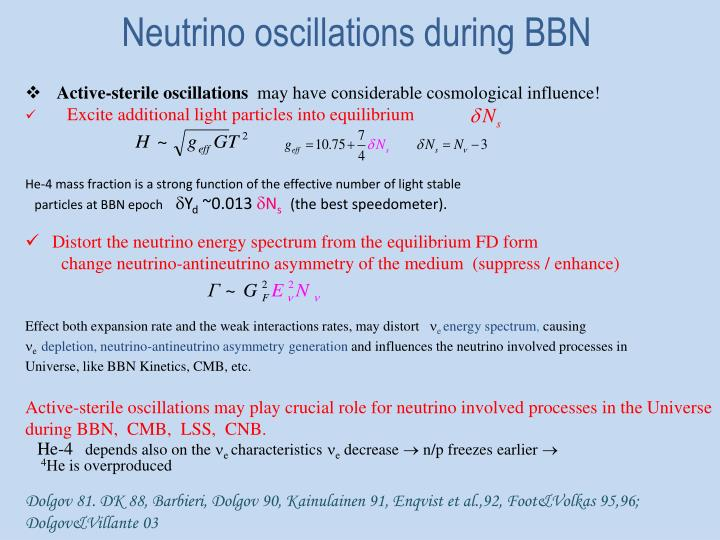 Neutrino oscillations during BBN