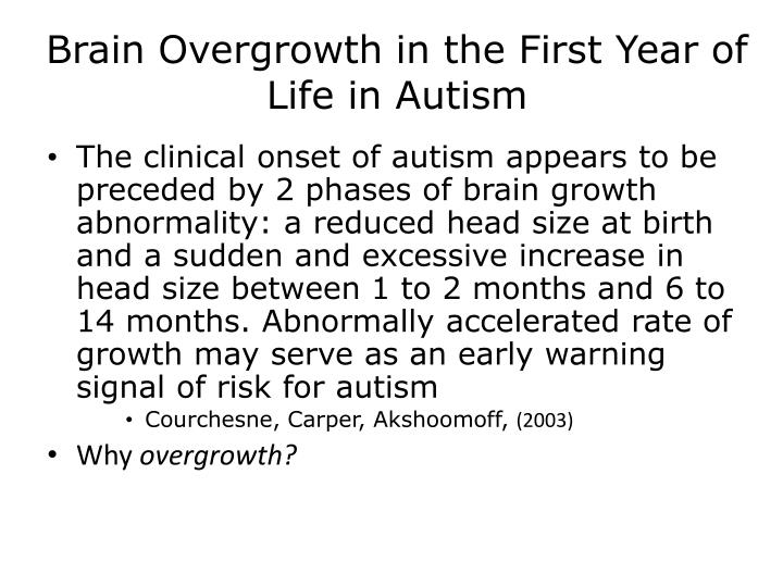 Brain Overgrowth in the First Year of Life in Autism