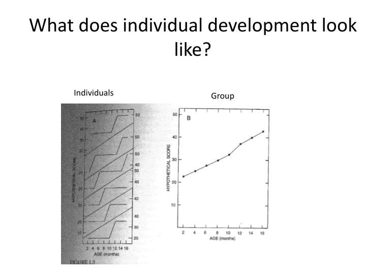 What does individual development look like?