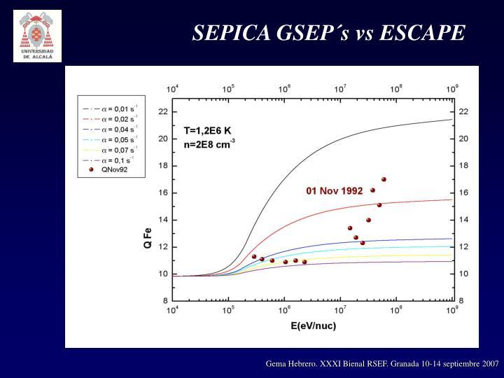 SEPICA GSEP´s vs ESCAPE