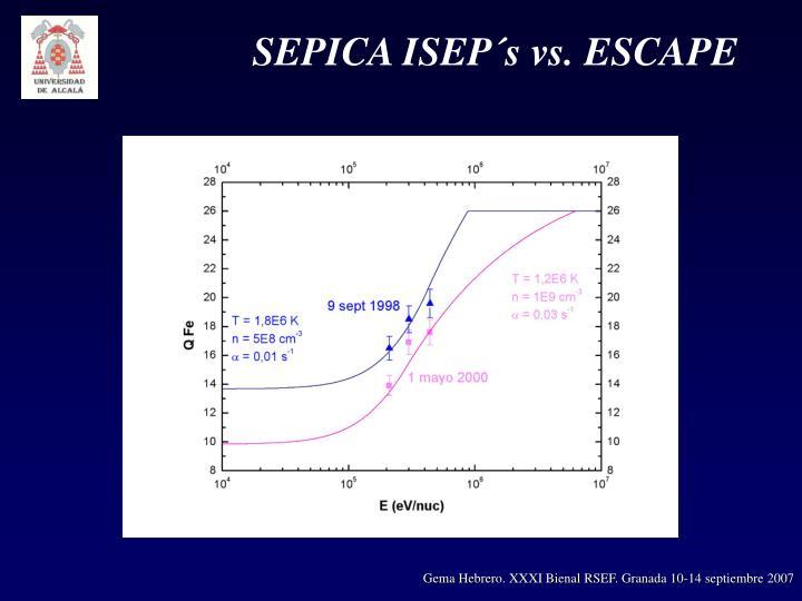 SEPICA ISEP´s vs. ESCAPE