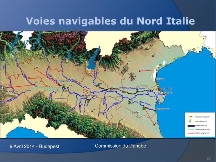 Voies navigables du Nord Italie