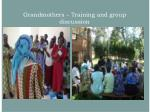 grandmothers training and group discussion