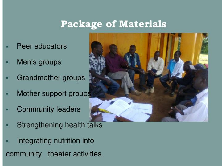 Package of Materials