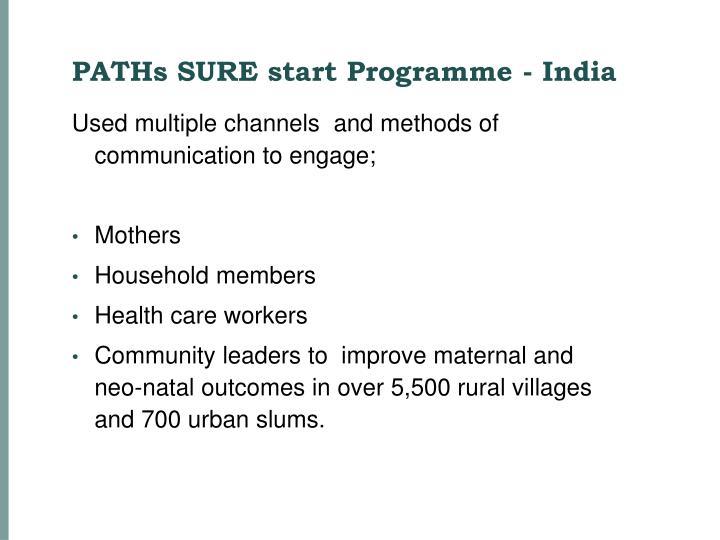 PATHs SURE start Programme - India