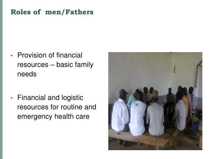 Roles of  men/Fathers