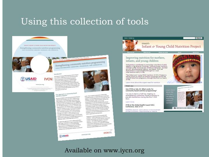 Using this collection of tools