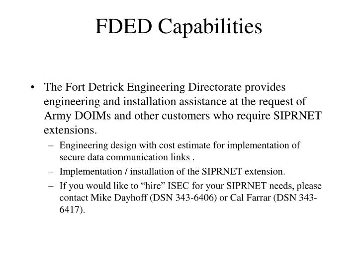 FDED Capabilities