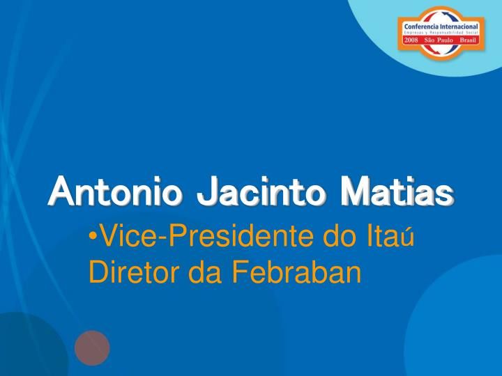 Antonio Jacinto Matias