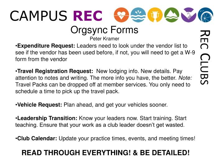 Orgsync Forms