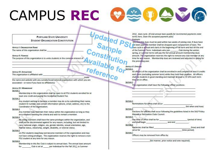 Updated PSU Sample Constitution
