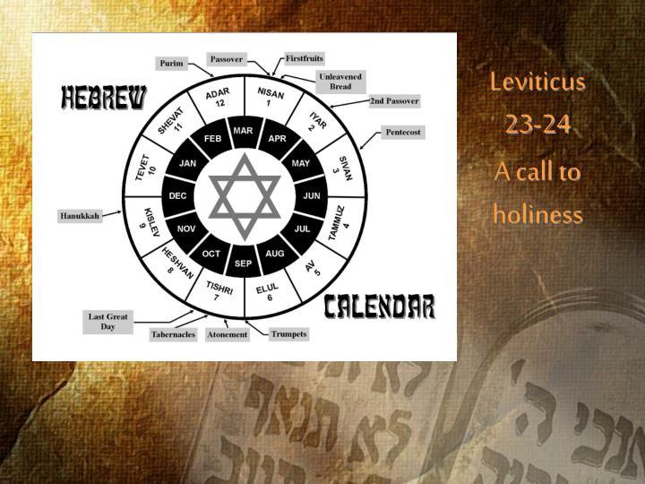 Leviticus 23-24
