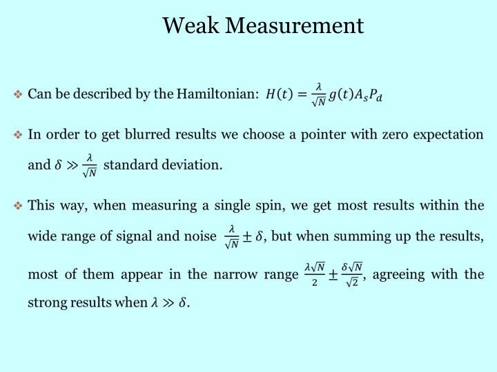 Weak Measurement