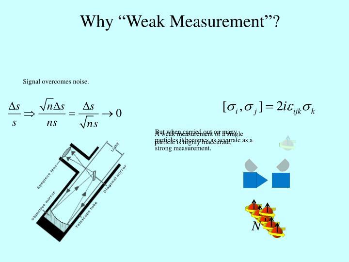 """Why """"Weak Measurement""""?"""
