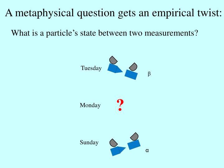 A metaphysical question gets an empirical twist: