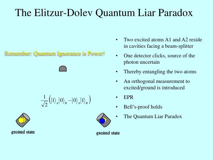 The Elitzur-Dolev Quantum Liar Paradox