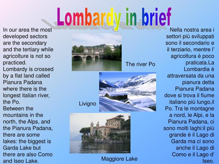 Lombardy in brief