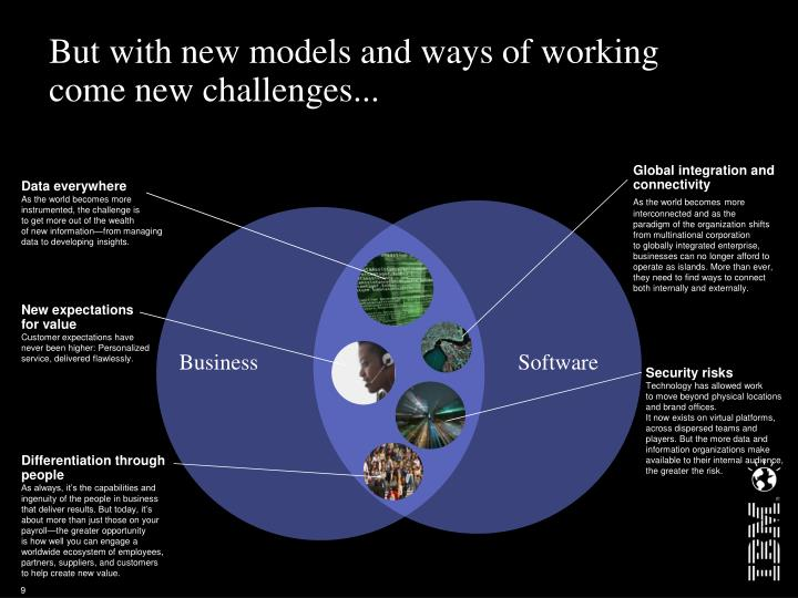 But with new models and ways of working come new challenges...