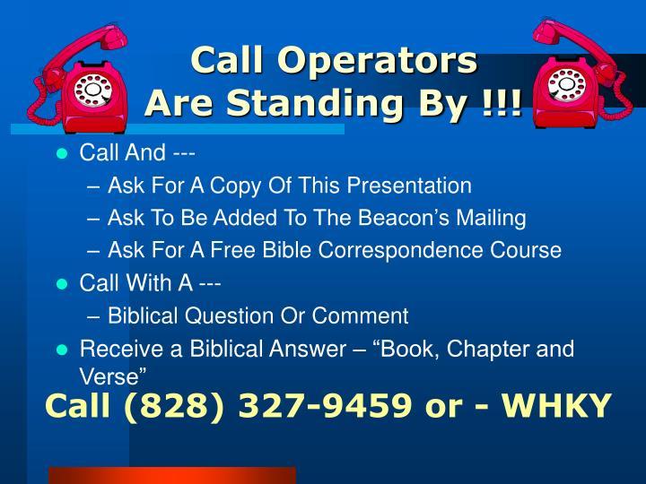 Call Operators