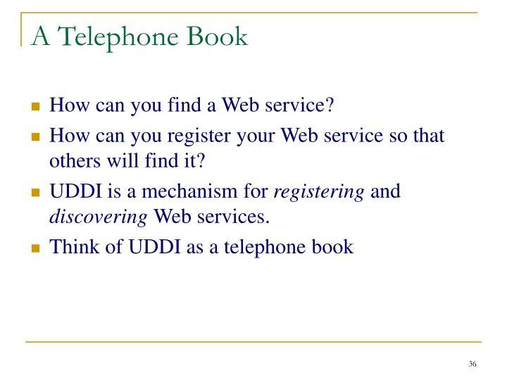 A Telephone Book