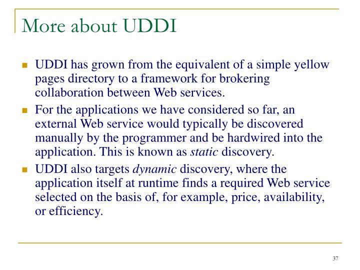 More about UDDI