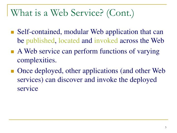 What is a web service cont