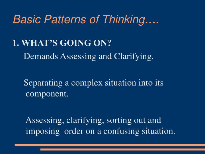 Basic patterns of thinking