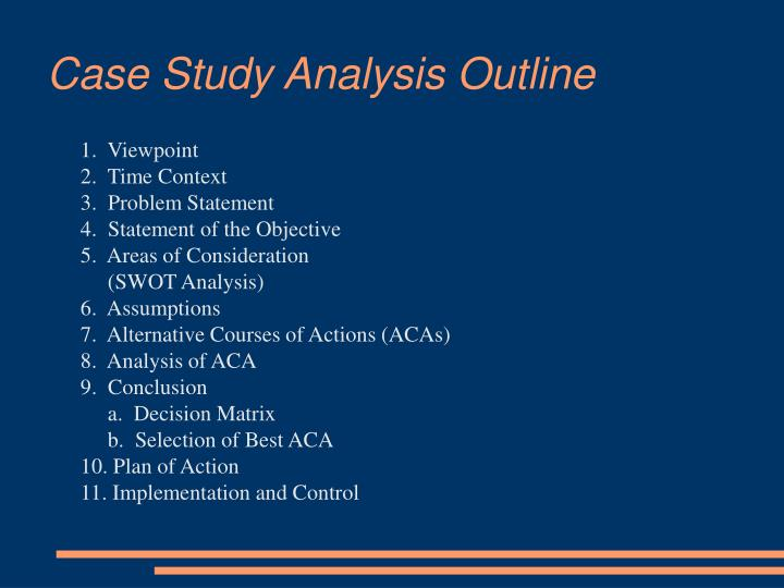 Case Study Analysis Outline