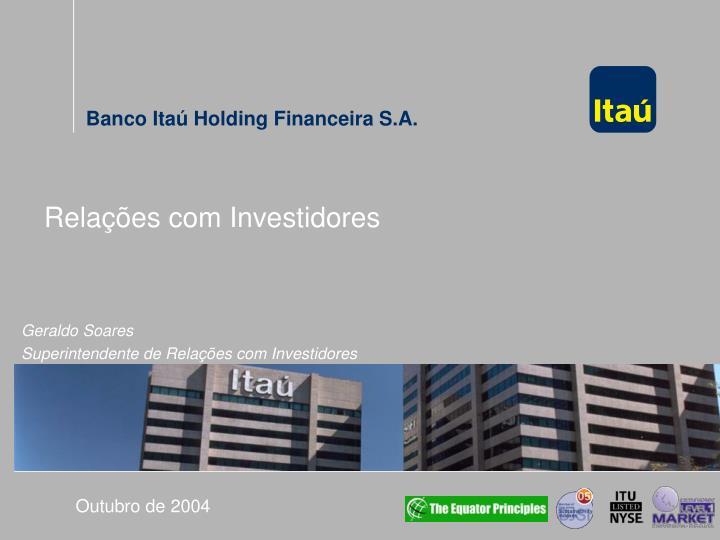 Relações com Investidores