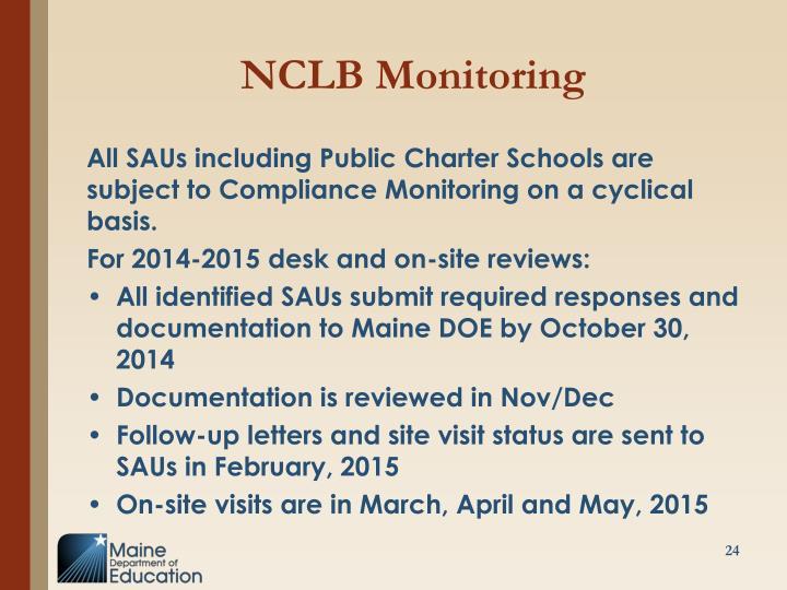 NCLB Monitoring