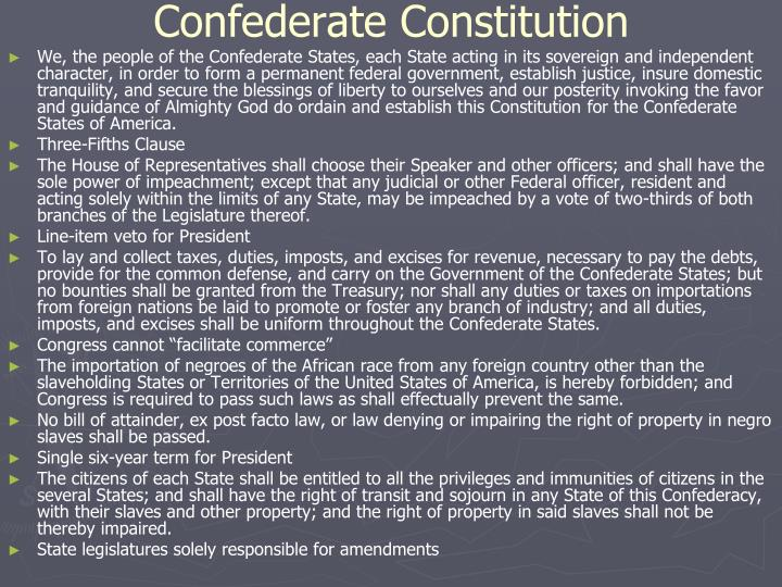 Confederate Constitution