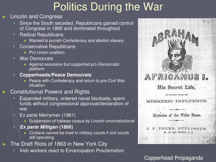Politics During the War