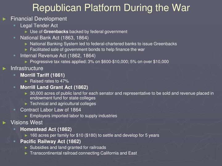 Republican Platform During the War