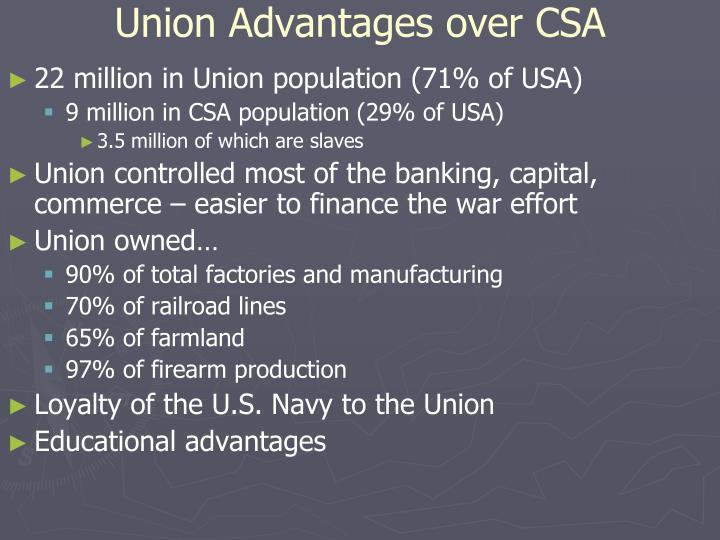 Union Advantages over CSA