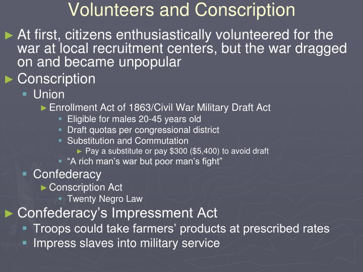 Volunteers and Conscription