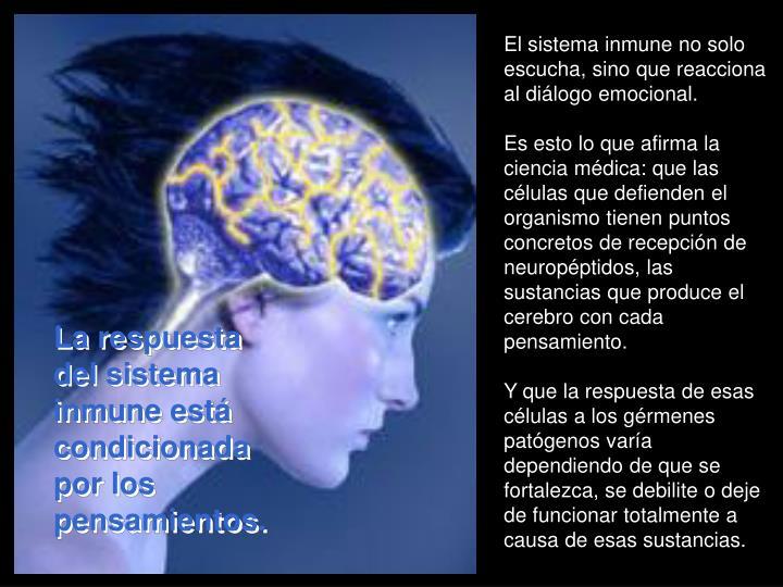 El sistema inmune no solo escucha, sino que reacciona al diálogo emocional.