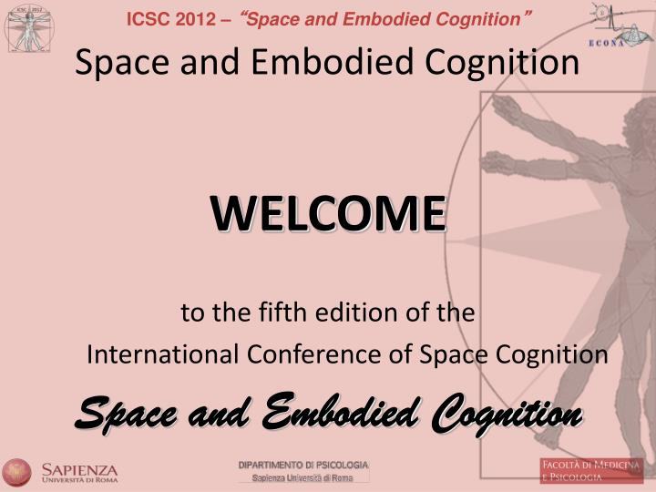 Space and embodied cognition
