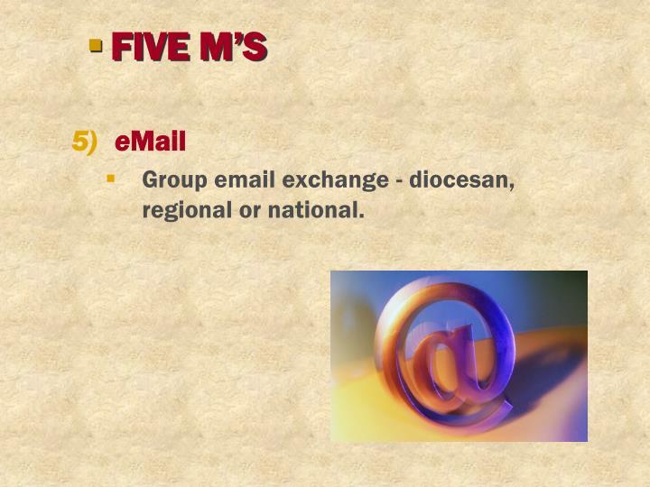 FIVE M'S