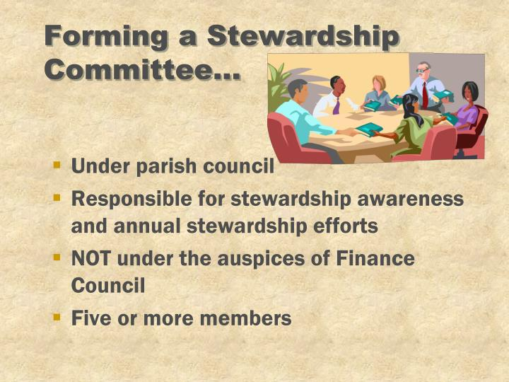 Forming a Stewardship Committee...