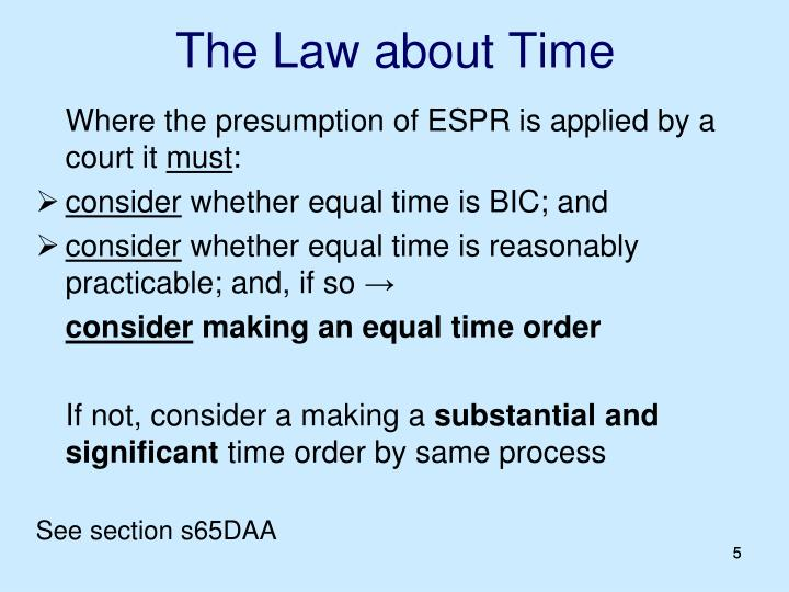 The Law about Time