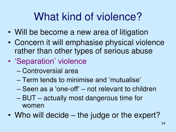 What kind of violence?
